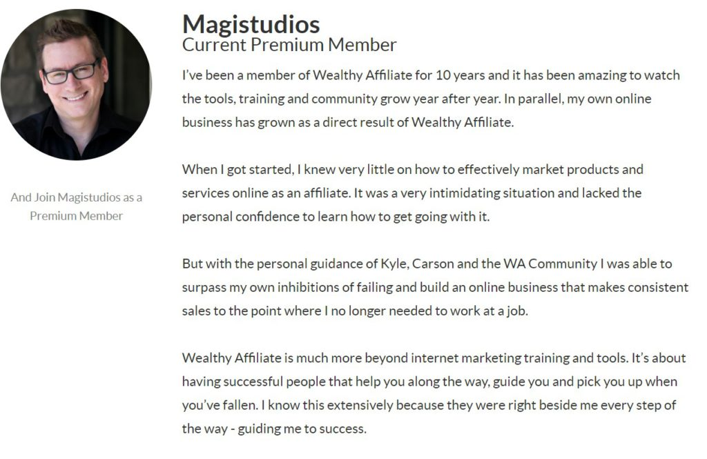 Wealthy Affiliate Review - Jay Testimonial