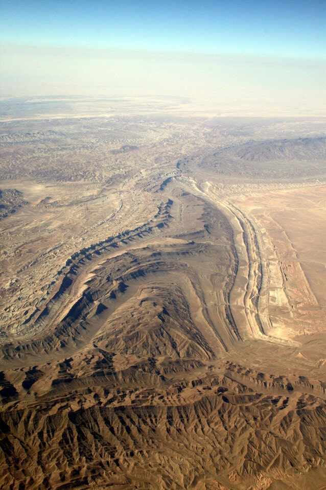 Where is Turkmenistan Located - desert & fault lines