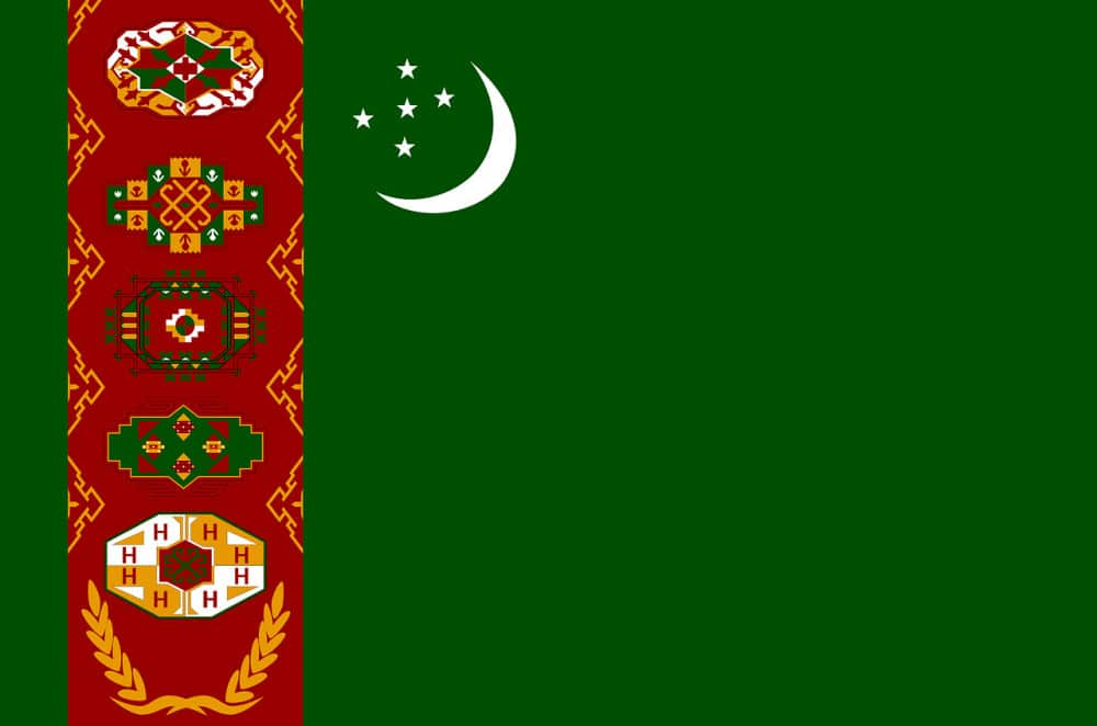 Where is Turkmenistan Located -- Flag
